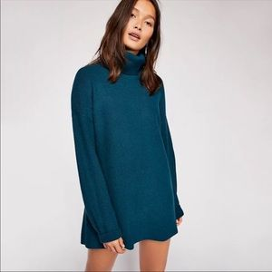 Free People Softly Structured Tunic Turquoise NWT